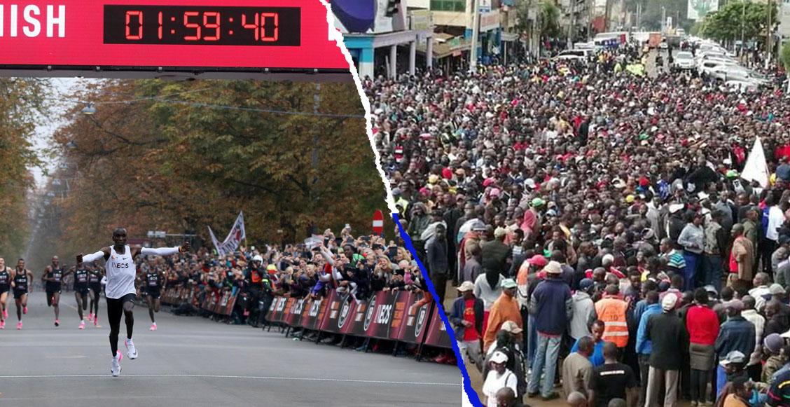 Así reaccionaron en Kenia tras el histórico tiempo de Eliud Kipchoge en un maratón