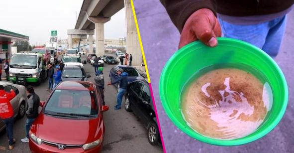 Al menos 30 autos quedaron varados en la carretera México-Toluca por cargar combustible contaminado