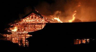 En imágenes: El trágico incendio del Castillo Shuri en Japón
