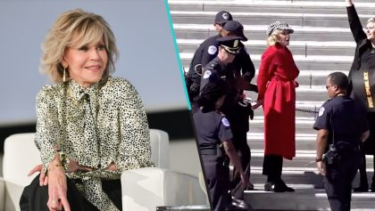 Sale video en el que Jane Fonda es arrestada durante una protesta