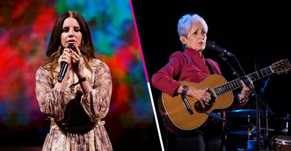 Esos sí son invitados: Lana Del Rey comparte el escenario con Joan Báez