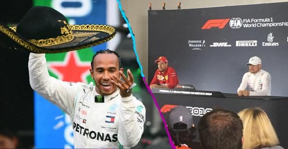 Las travesuras de Hamilton después de la carrera: Lo que no se vio del Gran Premio de México 2019