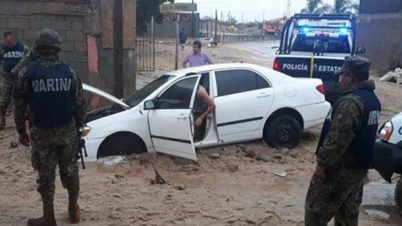 ¡Ay nanita! Las impactantes imágenes que dejó una insólita lluvia en Los Cabos