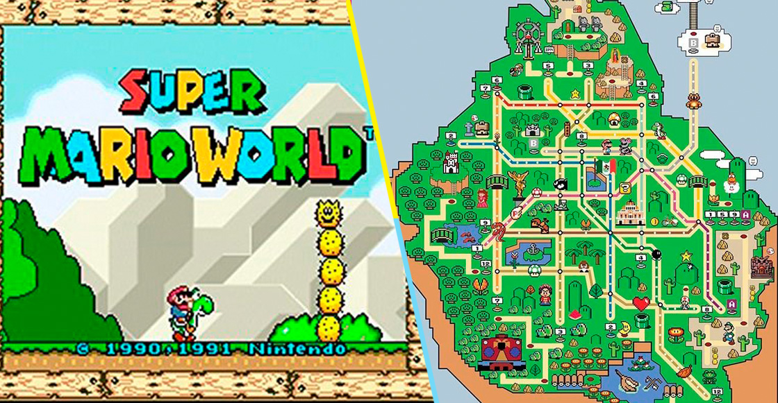 Checa este mapa del metro de la CDMX al estilo 'Super Mario World'