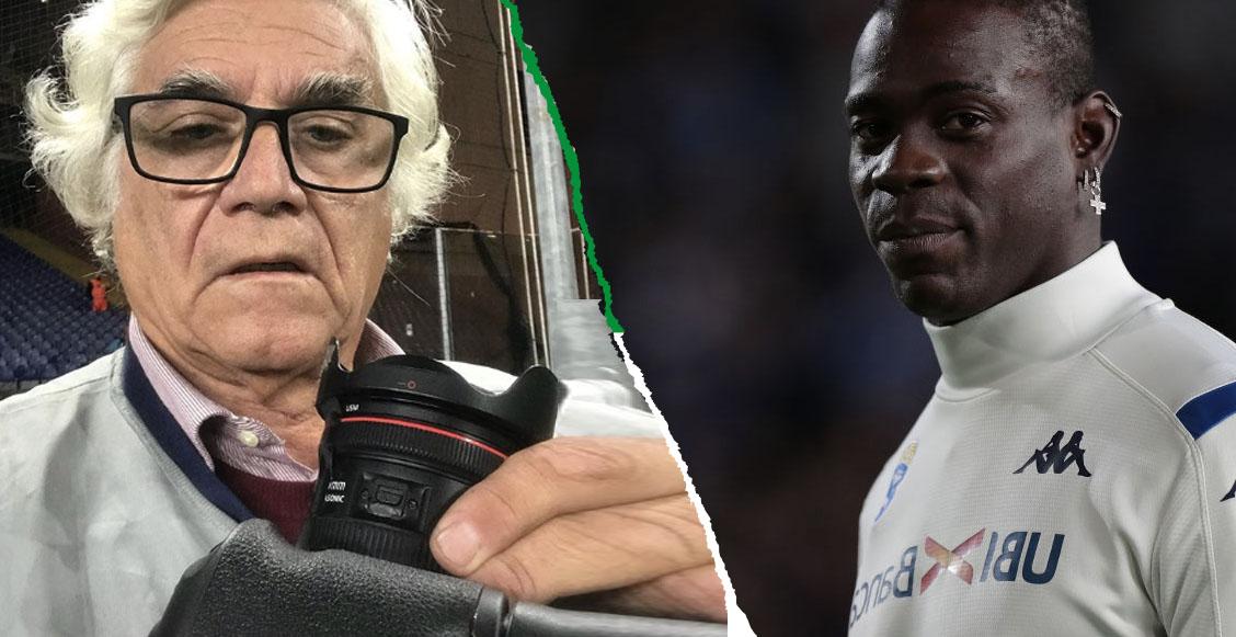 Mario Balotelli explotó tras salir de cambio y le rompió su cámara a un fotógrafo