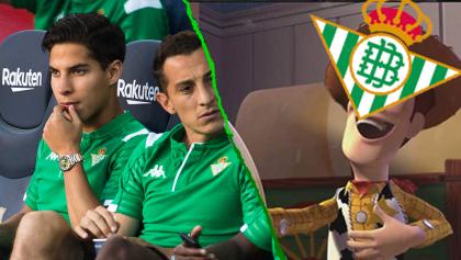 Lainez volvió a ser borrado por el Betis; los mexicanos y los memes ya estamos hartos