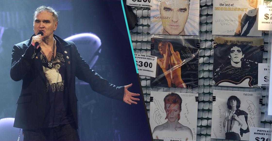 A falta de quincena: Morrissey firma discos de otros artistas y los vende por 300 dólares