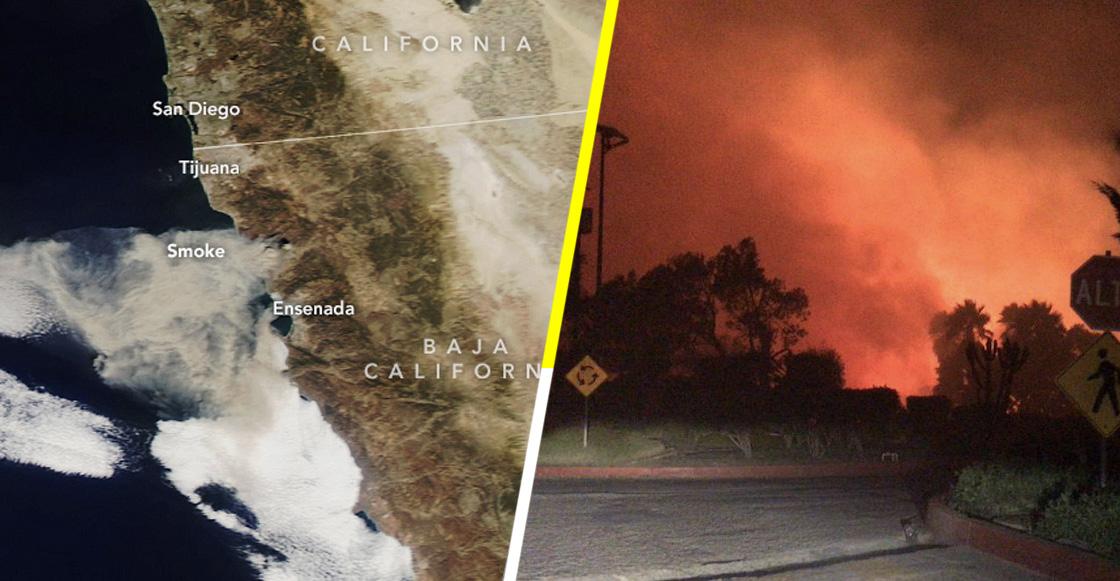 La NASA muestra como se ven los incendios de Baja California desde el espacio