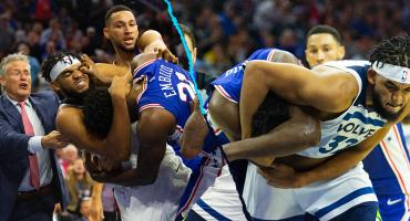 ¡Aaaaaaajaaa! Se arma la pelea en la NBA entre Sixers y Timberwolves