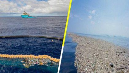 La polémica detrás del dispositivo de limpieza de plásticos en el Gran Parche de Basura del Pacífico