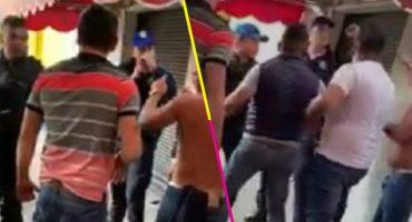 México mágico: Policías y borrachos se pelean en plena calle de la CDMX