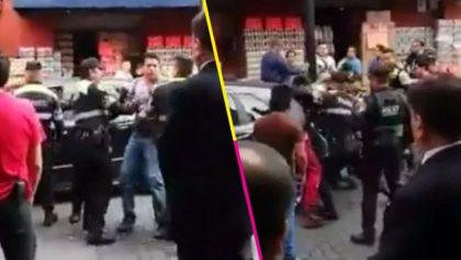 Qué ejemplares: Policías golpean a automovilista porque no se deja poner