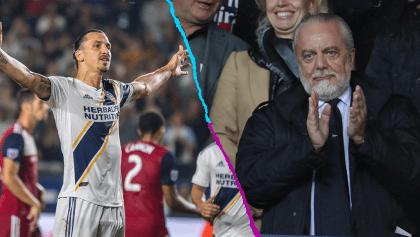 Presidente del Napoli también le hace ojitos a Zlatan Ibrahimovic