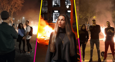 Critican a 'influencers' en Barcelona por posar en Instagram durante protestas