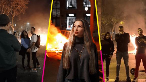 protesta-barcelona-influencers-instagram-fotos