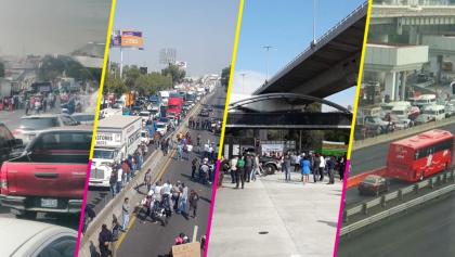 Caos matutino: Protestas de recolectores de basura cerraron accesos a la CDMX