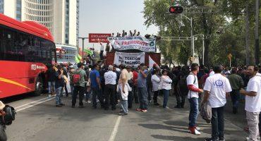 Recicladores bloquearon Insurgentes y Paseo de la Reforma; protestan por ley de residuos sólidos