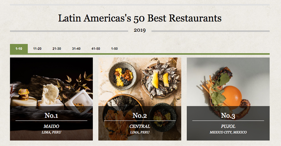 Estos son los restaurantes mexicanos que entraron a la lista de los '50 Mejores de Latinoamérica'