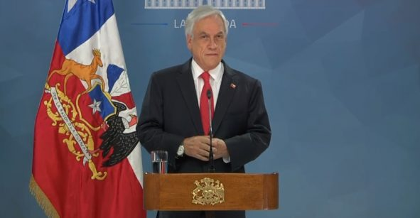 Presidente de Chile pide perdón y anuncia medidas para atender demandas sociales