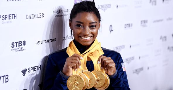 ¡Histórico! Simone Biles se convierte en la máxima medallista mundial de gimnasia