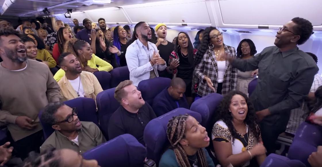 ¡Impresionante! Así suena el 'Sunday Service' de Kanye West en un avión