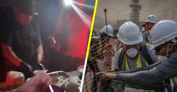 Héroe sin capa: Vendedor de tacos de birria le da de comer a bomberos que combaten fuego en Baja California