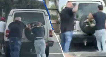 Humildad nivel: Andy Ruíz ayudó a un conductor a empujar su auto descompuesto