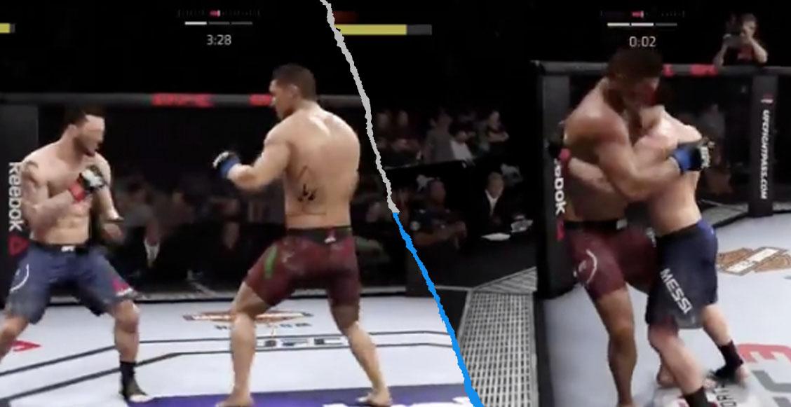 El brutal combate entre Cristiano y Messi en la UFC que terminó en KO