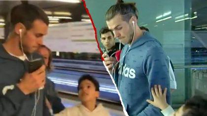 Gareth Bale ignoró a un niño en el aeropuerto y se ganó el 'odio' de la afición