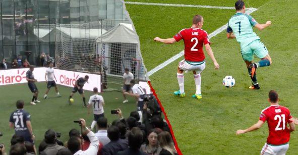 Comparan el GOLAZO de taquito de 'Checo' Pérez con el de Cristiano Ronaldo
