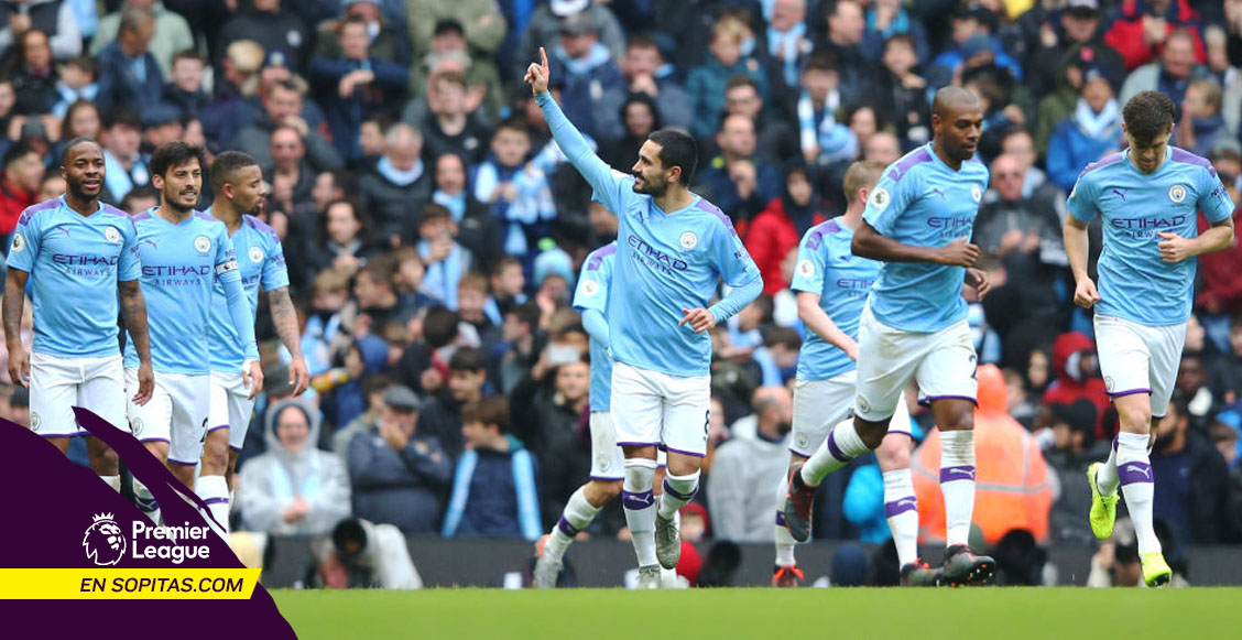 Sin problemas: Manchester City goleó al Aston Villa y Sterling apunta a la cima de goleo