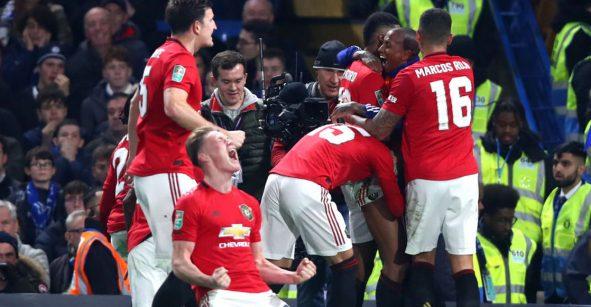 Manchester United 'resurgió de las cenizas' y eliminó al Chelsea de la Carabao Cup
