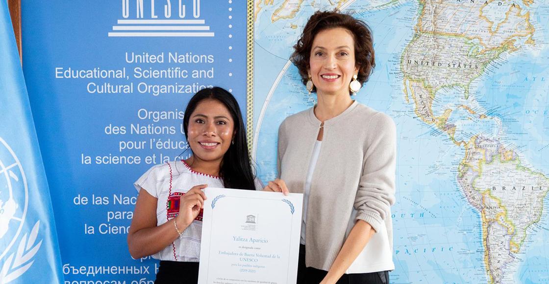 Un logro más: Nombran a Yalitza Aparicio embajadora de la UNESCO