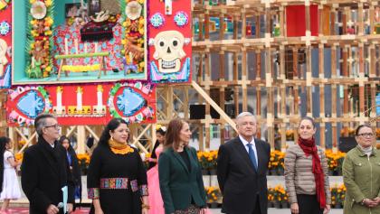 En imágenes: Así se puso la inauguración de la Mega Ofrenda del Zócalo