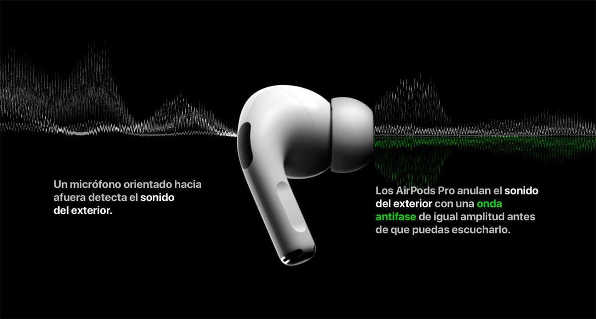 AirPods Pro cuentan con dos micrófonos para optimizar su funcionamiento