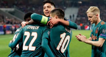 Edson jugó 45 y el Ajax acaricia la clasificación en Champions League
