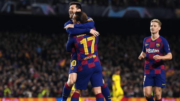 Barcelona aplastó al Dortmund para clasificar en Champions League