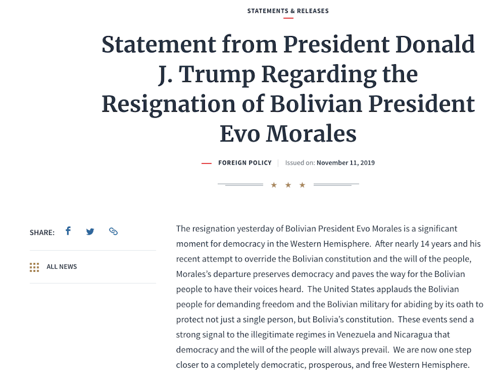 Comunicado-donald-Trump-evo-morales
