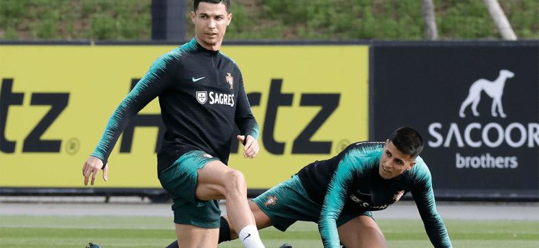 ¿Quién mintió? Cristiano entrenó normal con Portugal y despejó rumores de lesión