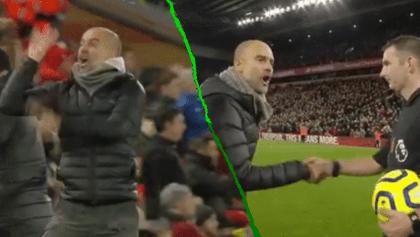 ¿El 'Piojo' de Inglaterra? Así fue el berrinche de Pep Guardiola con los árbitros en Anfield