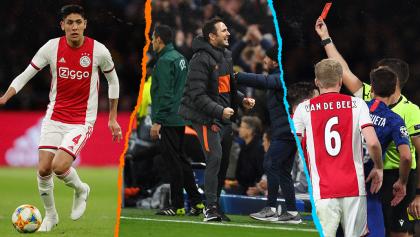 Edson 22', dos expulsados y dos penales: Ajax y Chelsea regalaron fiesta de goles