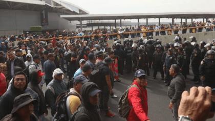 Se armaron los cates: Policías Federales se enfrentan a policías CDMX durante protesta