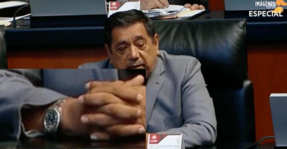 ¿Me da la hora? Cachan a Félix Salgado Macedonio con reloj de 188 mil pesos