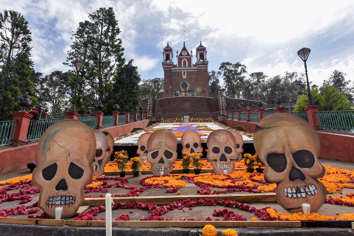 Iglesia-metepec-ofrendas-día-de-muertos
