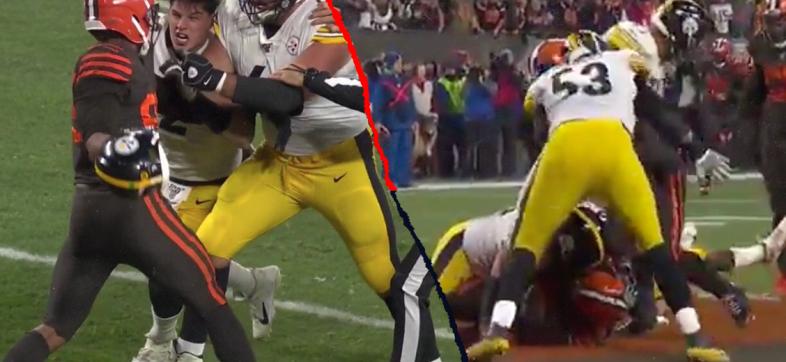 ¡Se volvió loco! Myles Garrett provocó bronca en el Steelers vs Browns por cascazo a Mason Rudolph