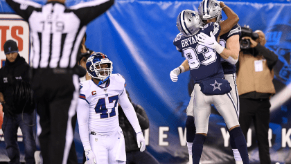 En noche de errores, Cowboys derrotaron a los Giants en New York