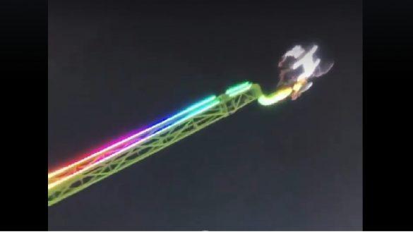 Otra de juegos mecánicos: falla en feria de Sinaloa deja en el aire a usuarios durante 45 minutos