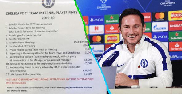 Y tú quejándote: Revelaron las multas de Lampard a los jugadores del Chelsea