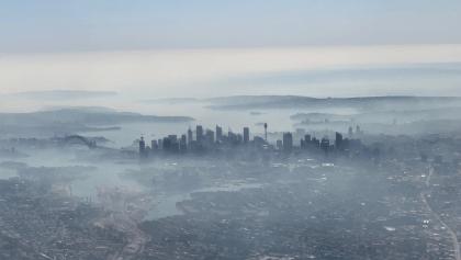 Sídney amanece con una nube tóxica tras los incendios registrados en Nueva Gales del Sur, Australia