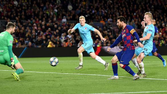 Un heroico Slavia Praga frenó a Messi y al Barcelona en el Camp Nou